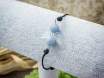 Fiatalság angyal akvamarin microcord karkötő