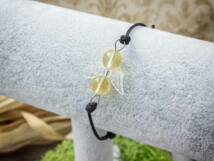 Gazdagság angyal citrin microcord karkötő