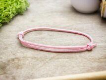 Kedvesség rózsaszín paracord karkötő