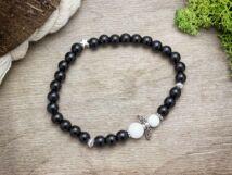 Angyal fekete-fehérben ásvány karkötő