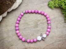 Angyalmágia rózsaszín ásvány karkötő