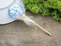 Színes cukor nyalóka üveg medál