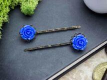 Kék rózsás hajcsat