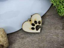 Szeretem a kutyámat lézervágott nyírfa medál