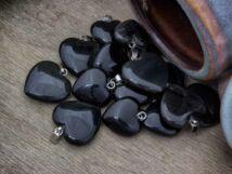 Achát szív ásvány medál
