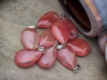 Cseresznye kvarc csepp ásvány medál