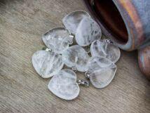 Hegyikristály szív ásvány medál