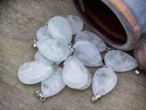 Hegyikristály csepp ásvány medál