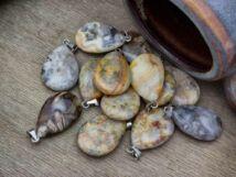 Achát csepp ásvány medál