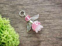 Rózsaszín angyal medál