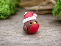Gyurma karácsonyi madár medál