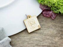 Scrabble B betű lézervágott nyírfa medál