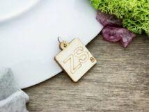 Scrabble ZS betű lézervágott nyírfa medál