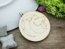 Bak horoszkóp lézervágott lógós nyírfa medál