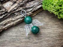 Megoldás angyal malachit ásvány medál