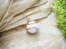 Fehér jáde réz drót medál
