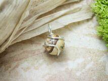 Jáspis ezüst színű drót medál
