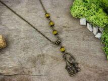Kalitka medálos sárga gyöngy nyaklánc