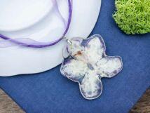 Azalea műgyanta préselt virágos nyaklánc