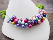 Bubble tekla gyöngyös és kristályos nyaklánc