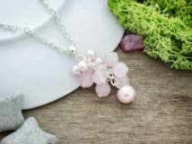 Bubble rózsakvarc medál nyakláncon