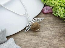 Angyal nemez medál ezüst színű nyakláncon
