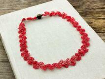 Horgolt piros szenvedély nyaklánc