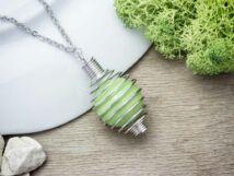Zöld angyalhívó nyaklánc