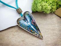 Vanda angyala műgyanta préselt virágos nyaklánc