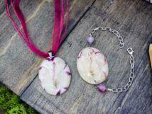 Azalea karkötő nyaklánc műgyanta szett