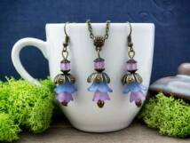 Kék és lila harangvirágos szett