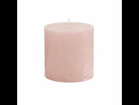 RUSTIC II. gyertya 10cm rózsaszín
