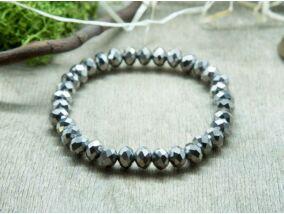 Ezüstös szikrák kristály gyöngy karkötő