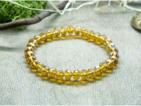 Aranysárga kristály gyöngy karkötő