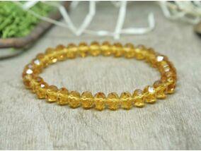 Sárga kristály gyöngy karkötő