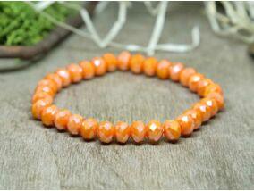 Narancssárga kristály gyöngy karkötő
