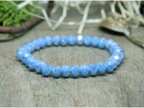 Irizáló kék kristály gyöngy karkötő