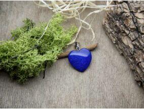 Festett lápisz szív ásvány medál
