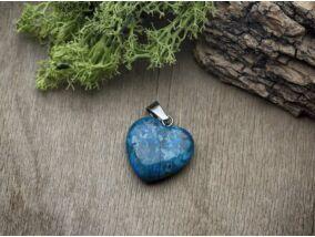 Festett jáspis szív ásvány medál