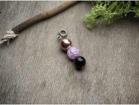 Pink rozé mámor vegyes ásvány medál