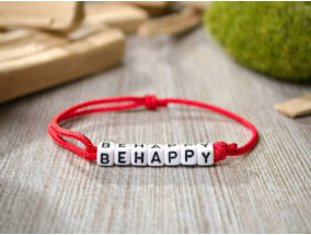 Be happy betűs paracord karkötő