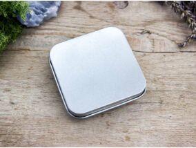 Ajándékdoboz metallica ezüst színű S