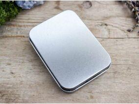 Ajándékdoboz metallica ezüst színű M