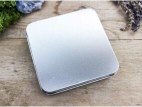 Ajándékdoboz metallica ezüst színű L