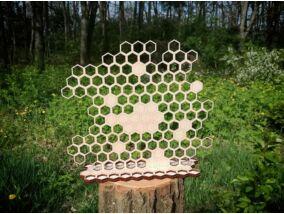 Zümmögő méhkas lézervágott nyírfa ékszertartó