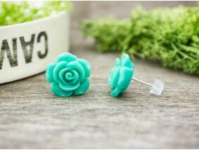 Zöld rózsa fülbevaló
