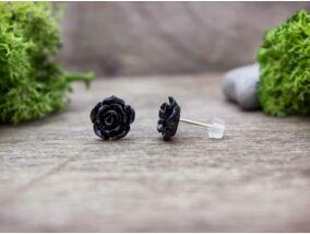 Fekete rózsa fülbevaló