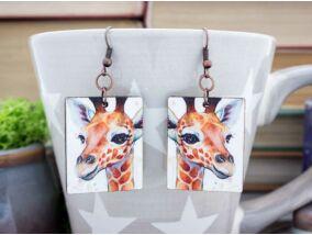 Zsiráf falemez fülbevaló