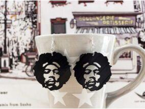 Jimi Hendrix bakelit fülbevaló