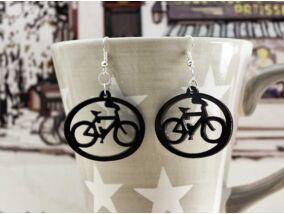 Bicikli plexi fülbevaló
